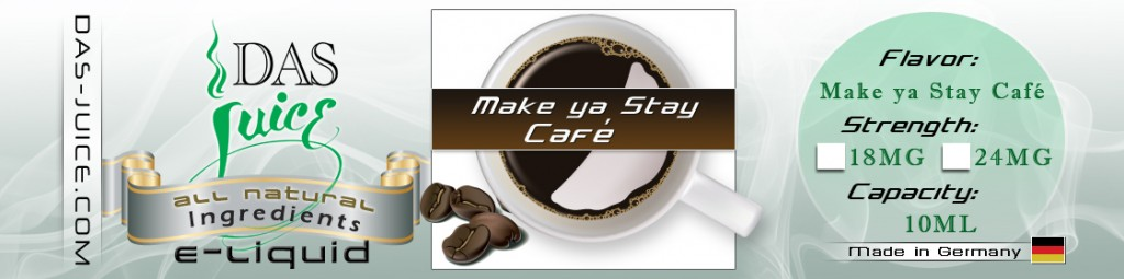 Design of Coffee E-cigarette Juice Label