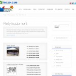Party Equipment Rentals Page