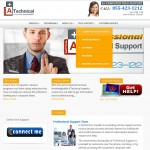 Fort Lauderdale Business web design - homepage