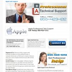Apple Support inner page of web design