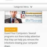 Responsive web design - view of website