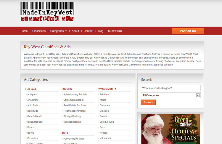 Classified Ads Website Design