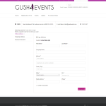 Checkout - Gush Events