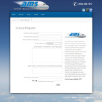 Service Request form for AMS