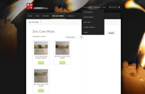 Candle Ecommerce Web Design