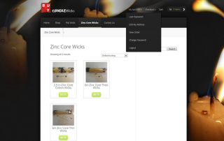 Candle Ecommerce Web Design