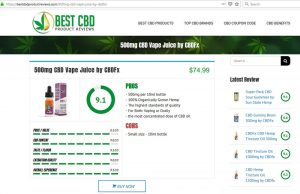 best cbd products reviews website design